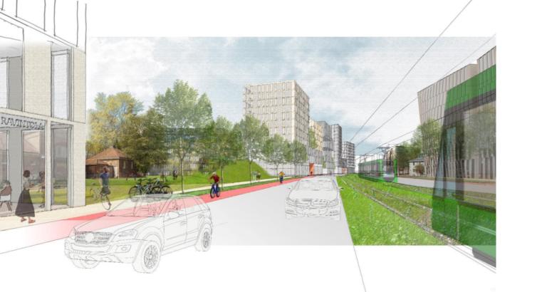 Enemmän puistoa, vähemmän autoja – kommentti Teollisuuskadun ja Dallapénpuiston tulevaisuudesta